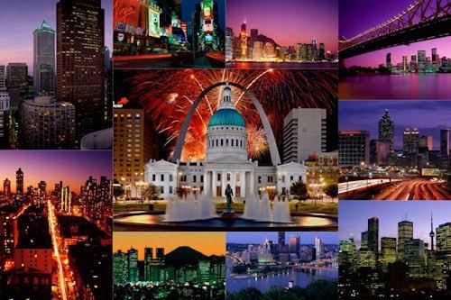 Fotografías de ciudades con vista nocturna V (10 fotos)
