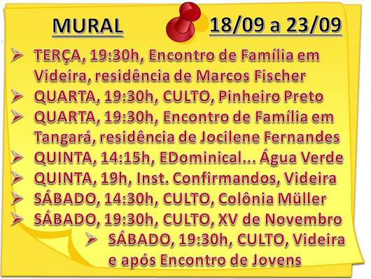 MURAL DA SEMANA - 18/09/2018