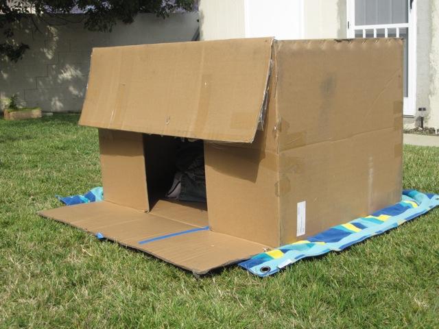 fun friday cardboard box fort goexplorenature com