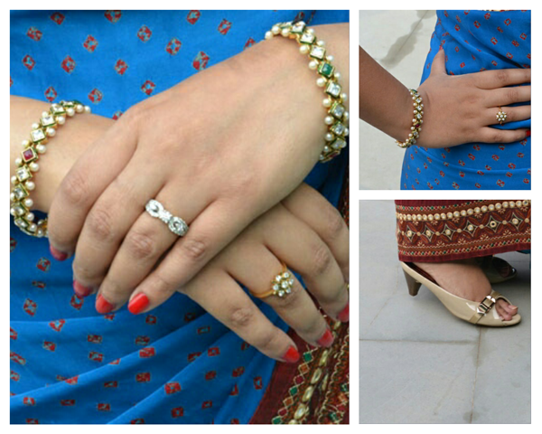 Multicolored kadas or bangles