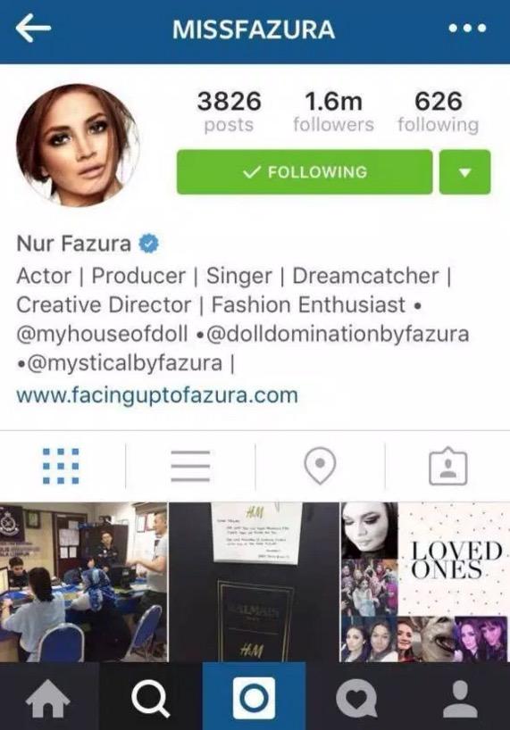 Isu 'KimK', Fazura hilang 200 ribu follower di instagram