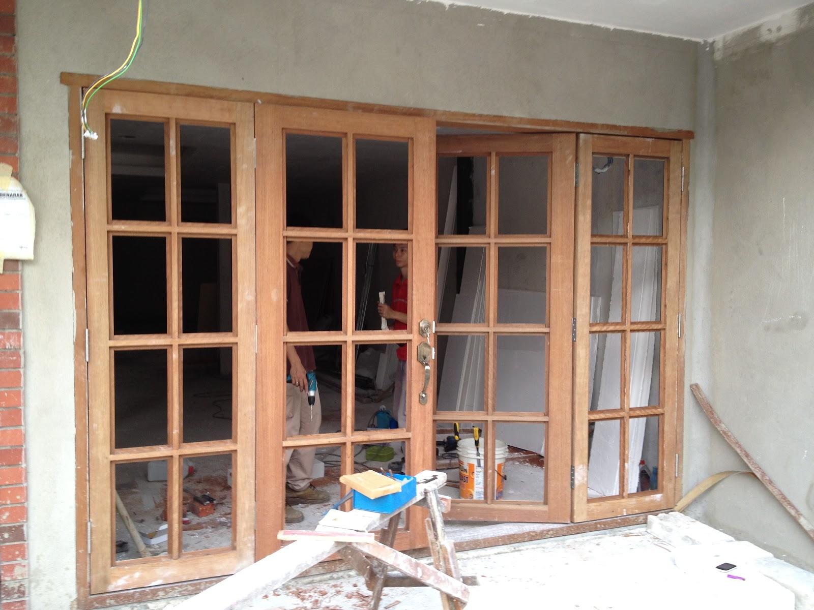 Our renovation adventures four panel doors for Three door french doors