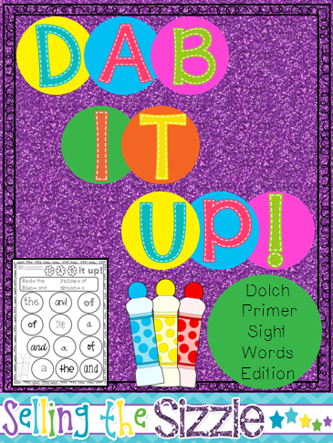 http://www.teacherspayteachers.com/Product/Dab-It-Up-with-the-Dolch-Primer-Sight-Word-List-1272088