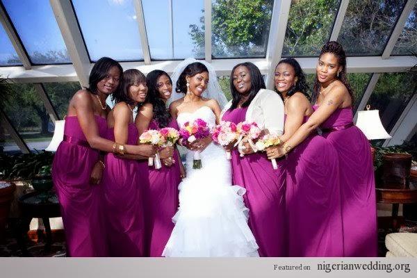 Radiant orchid color bridesmaid dresses