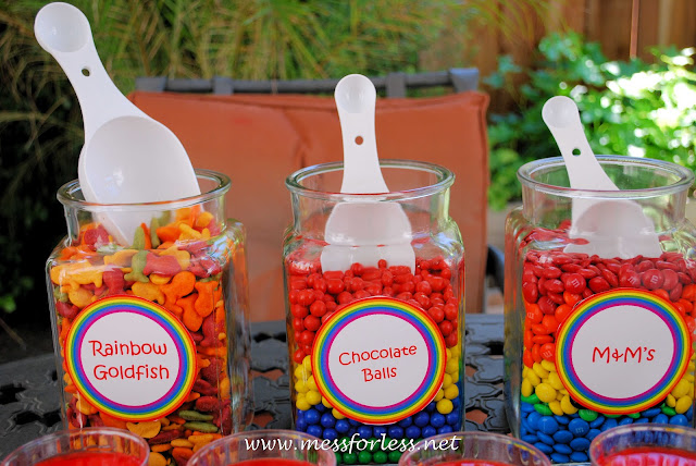 rainbow party, rainbow candy, candy table