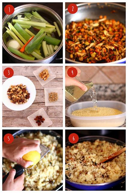Foto: Pasos elaboración receta cuscus