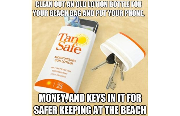 Use a Lotion Bottle for Storage