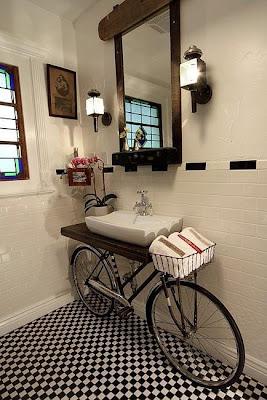 tocador baño creativo
