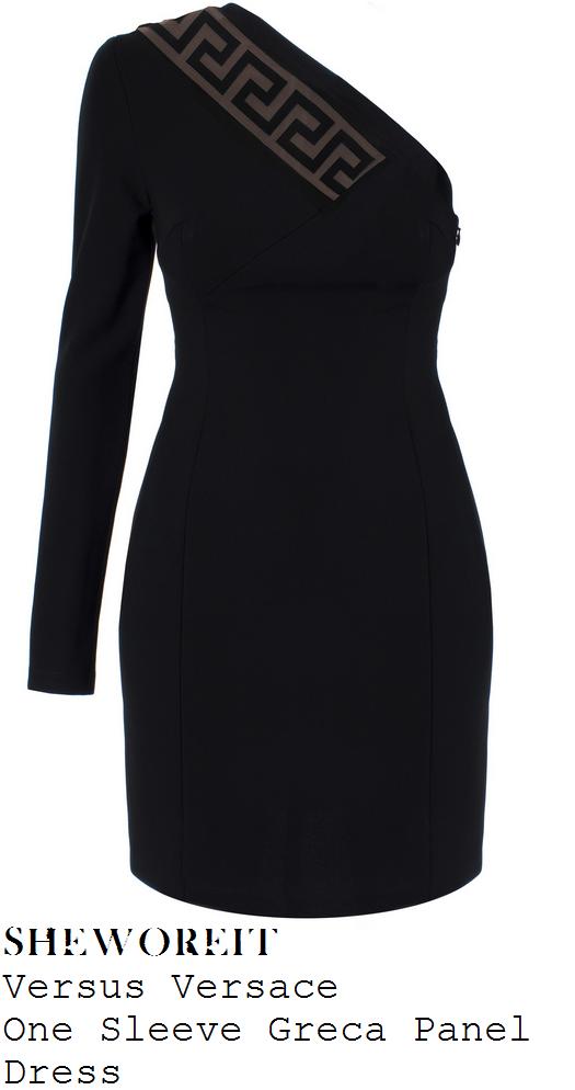 rochelle-humes-black-one-shoulder-greek-keys-panel-bodycon-mini-dress-xtra-factor