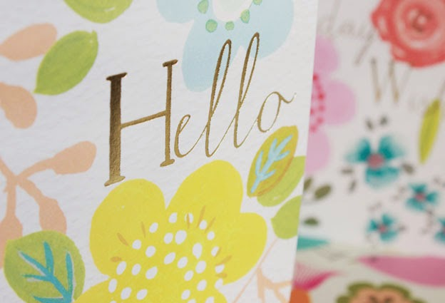 hello, floral cards, spring, greeting cards, designers, Liz and Pip