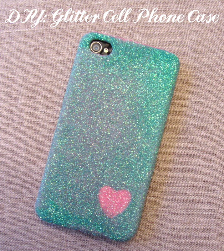 Diy glitter cell phone case linen lace love for Homemade phone case