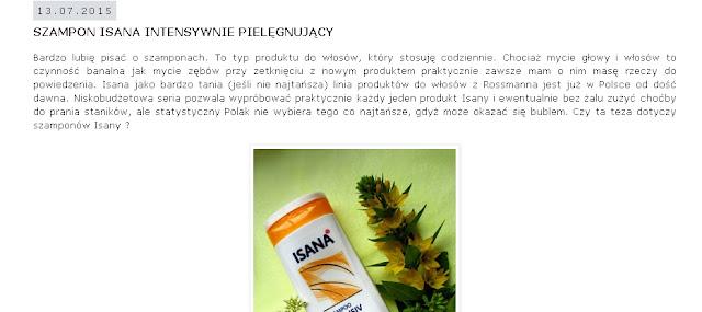 http://elleemvogue.blogspot.com/2015/07/szampon-isana-intensywnie-pielegnujacy.html
