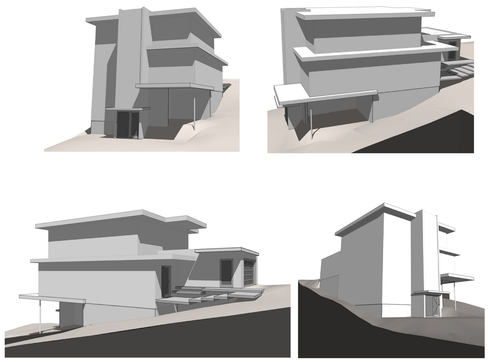 As The Images Show, Our Lot Has A Strong Slope From East To West. The  Garage Is Actually Elevated A Few Feet Above The Main Level To Decrease The  Slope Of ...