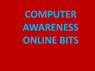 IBPS CLERK COMPUTER AWARENESS BITS FOR ON LINE EXAMS