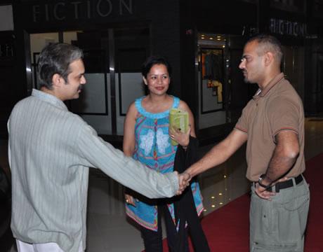 atrium festival launch andaleeb and farhan with asim qureshi Celebrities at Atrium Mall