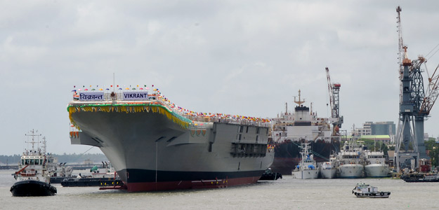 INS Vikrant - India's first aircraft carrier launched Aug 2013