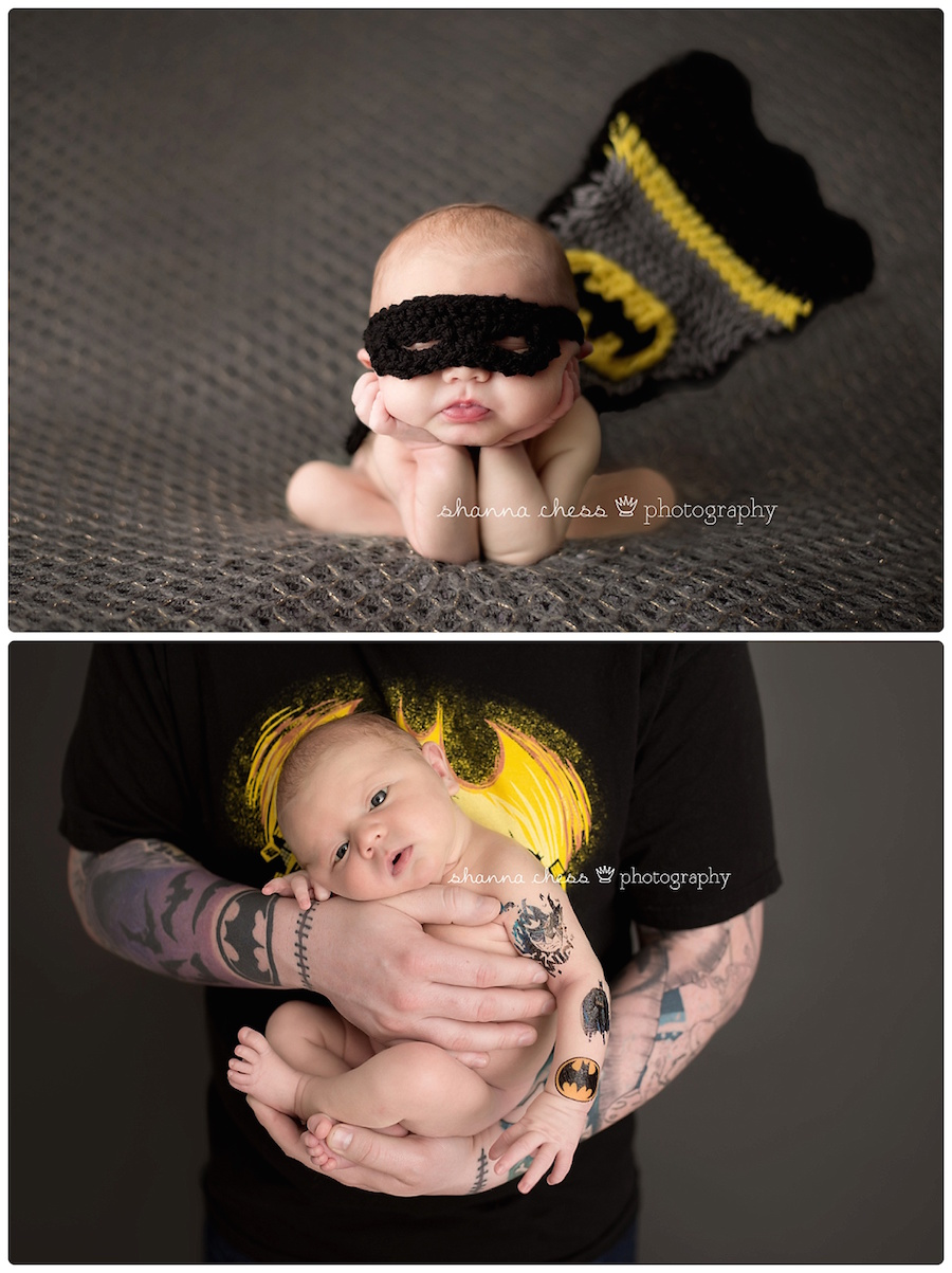eugene springfield oregon newborn photography batman