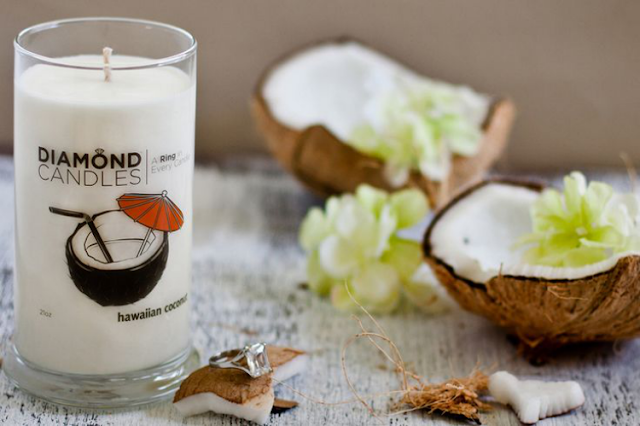 hawaiian coconut soy wax candle
