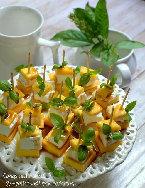 mango feta insalata