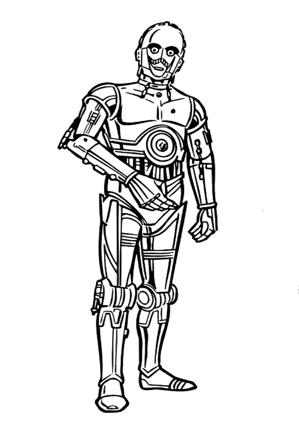 Free Coloring Pages Of Birds 2 C3po C3po Coloring Page