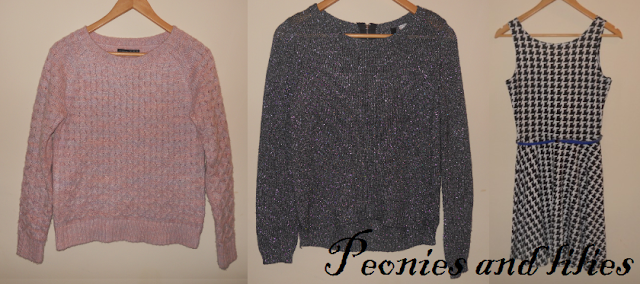 Jumpers, Cosy knits, Winter jumpers, winter knits, Primark knitted jumper, H&M sparkly jumper, Primarl houndtooth dress