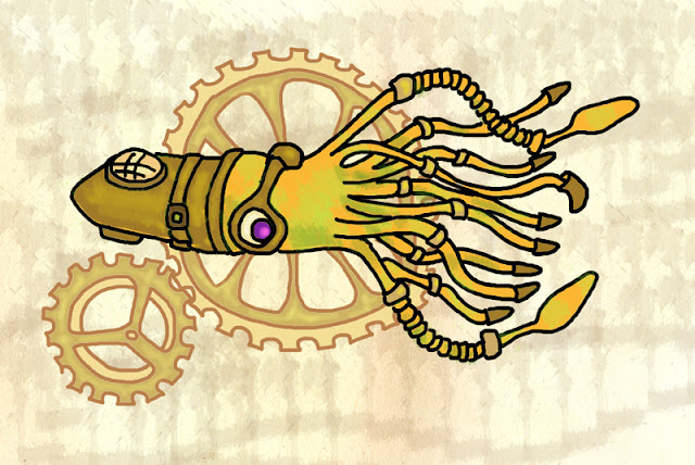 Steampunk Squid