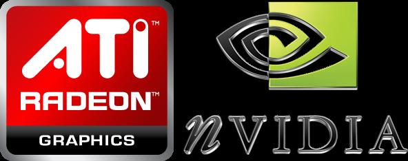 Los dos principales fabricantes de Procesadores Gráficos: nVIDIA y ATI Radeon (actualmente AMD).