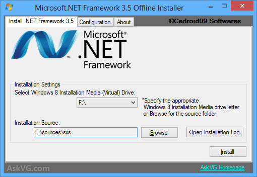 Install NET Framework 3.5 Offline Windows 8 ~ The One