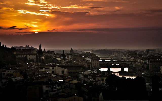 Florence City Sunset