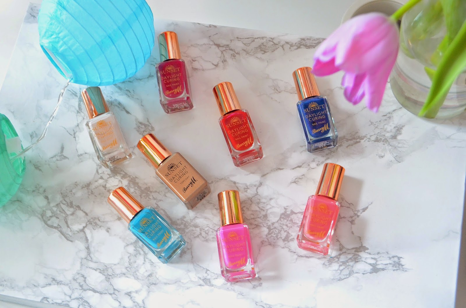 Barry M Sunset Nail Paint Range, Barry M, Barry M Nail Paint, Barry M Sunset collection review, DIY Gel nails at home, gel nails, how to do gel nails at home, nails, nail polish.
