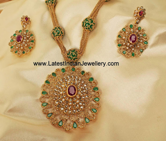 Jaipur Uncut Diamond Necklace