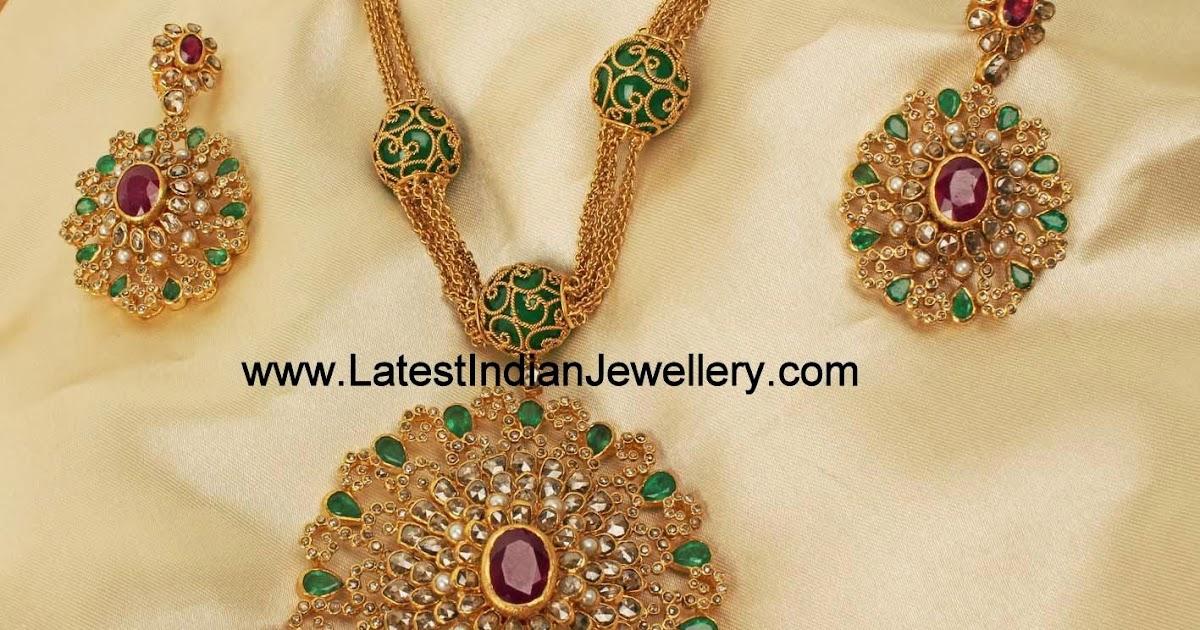 Jaipur Design Uncut Diamond Necklace