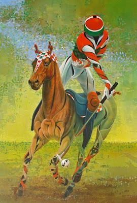 imagenes caballos surrealismo oleo