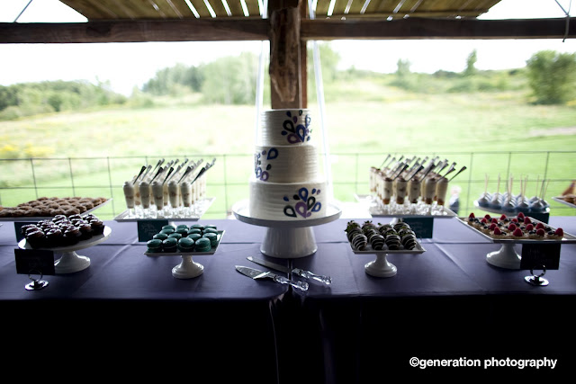 Bold Colored Mini Dessert Table