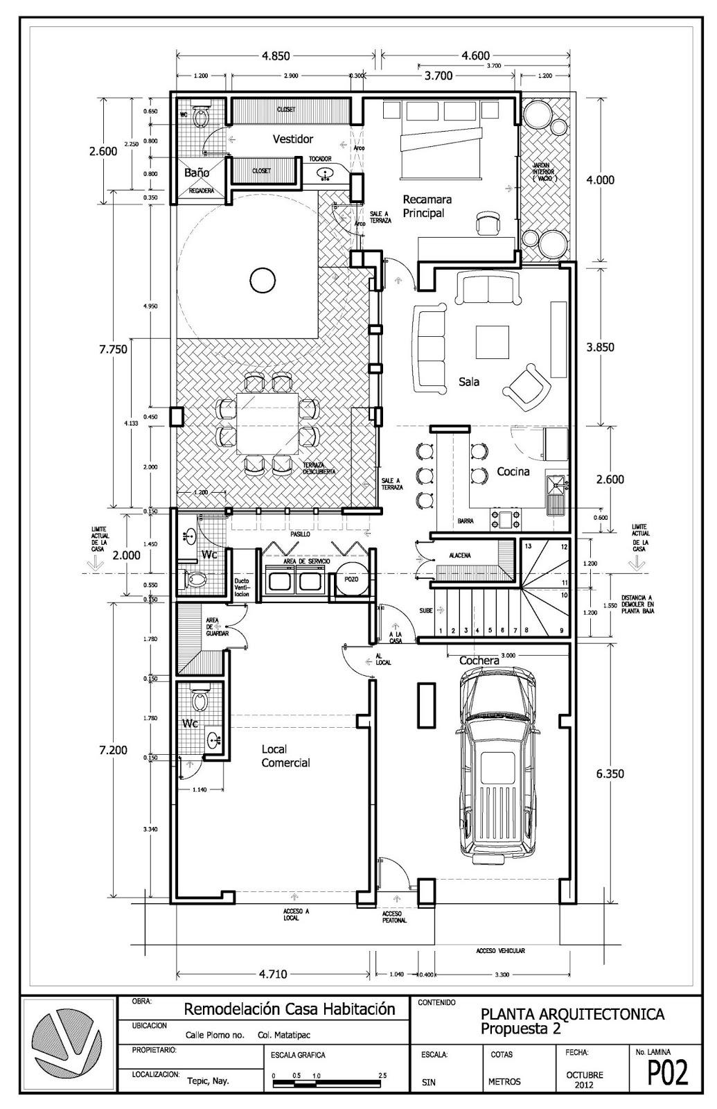 La casa remodala construccion e ingeneria remodelaci n for Planta arquitectonica de una oficina