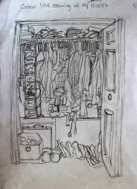 Contour Drawing And Line Drawing : My portfolio