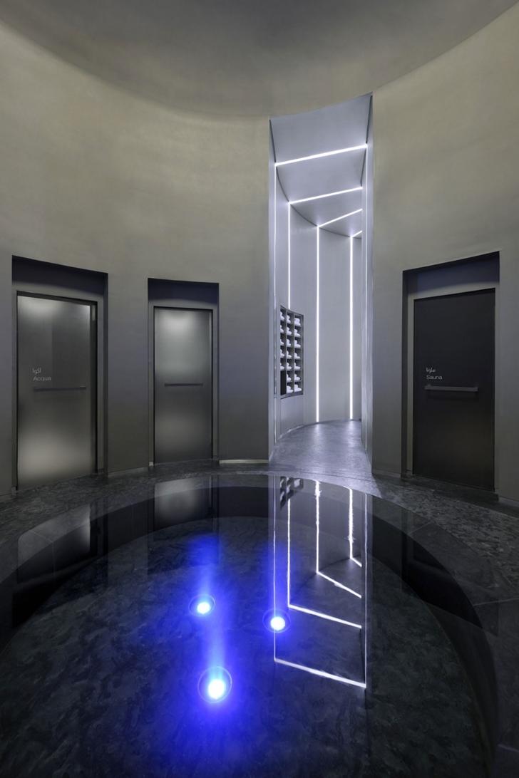 Elevator room in Armani Burj Khalifa Hotel Dubai