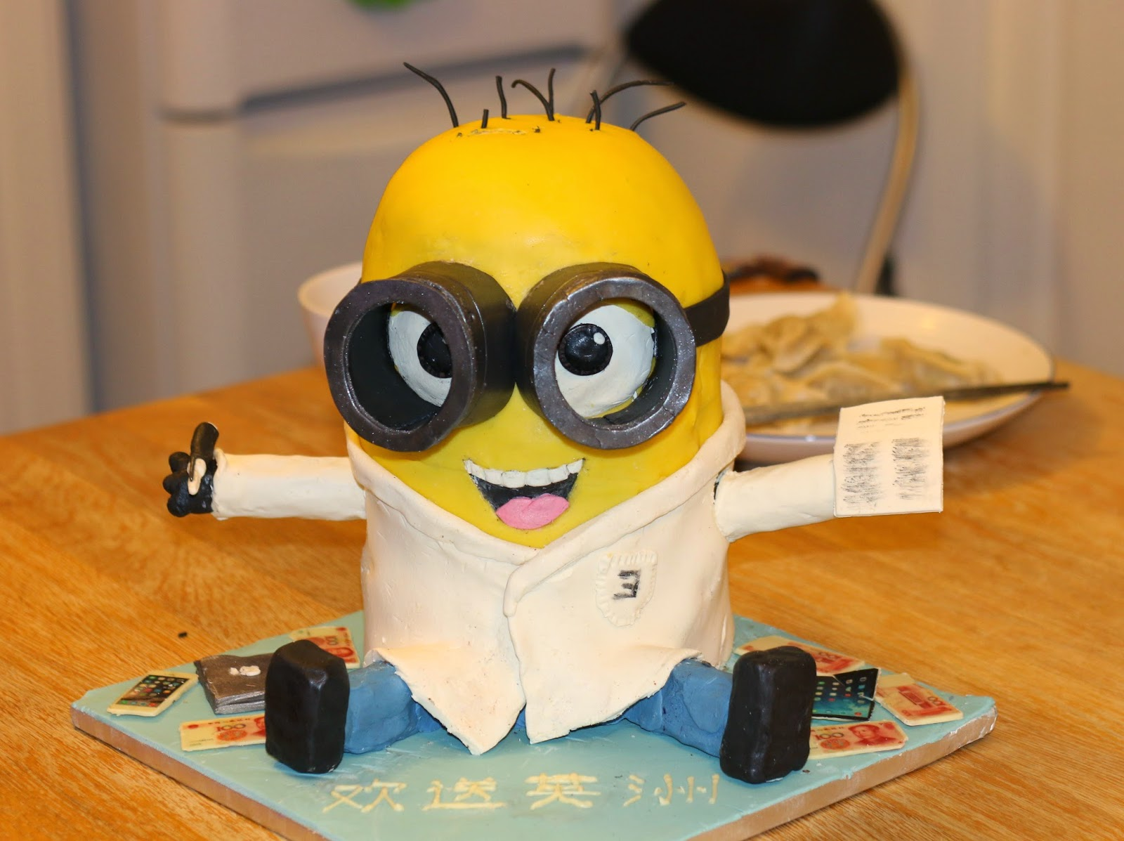 1eaa34688c8 3D Science Minion Cake