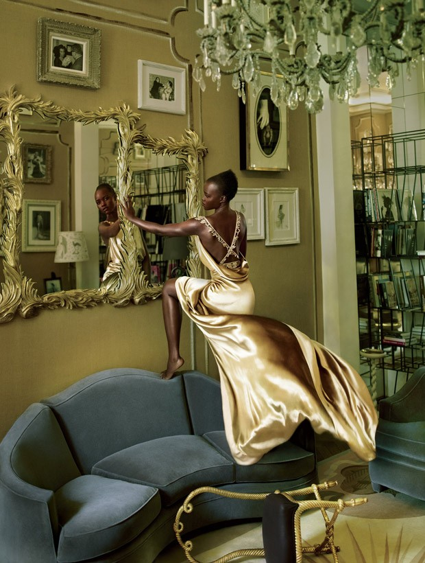 Lupita Nyong'o is glamorous for Vogue US October 2015
