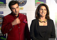 Ranbir, Neetu Kapoor On Set Of KBC 7 photo stills