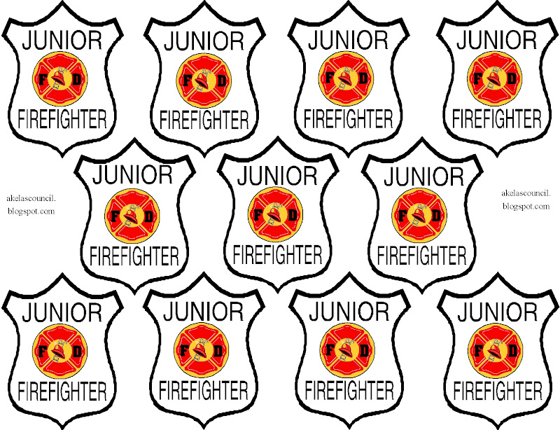 akela's council cub scout leader training: junior firefighter ... - Firefighter Badges Coloring Pages