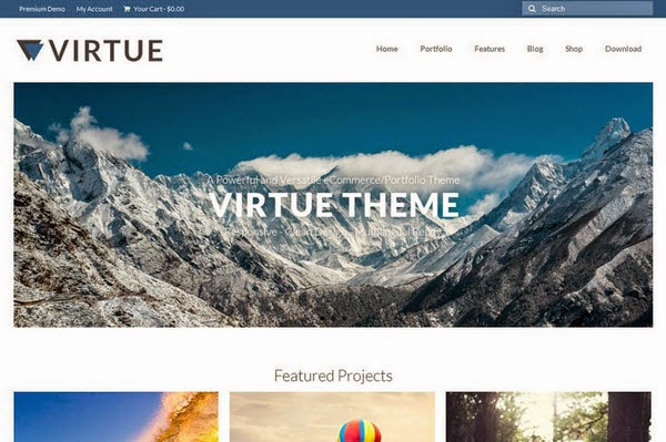 Virtue Free Portfolio WordPress Theme