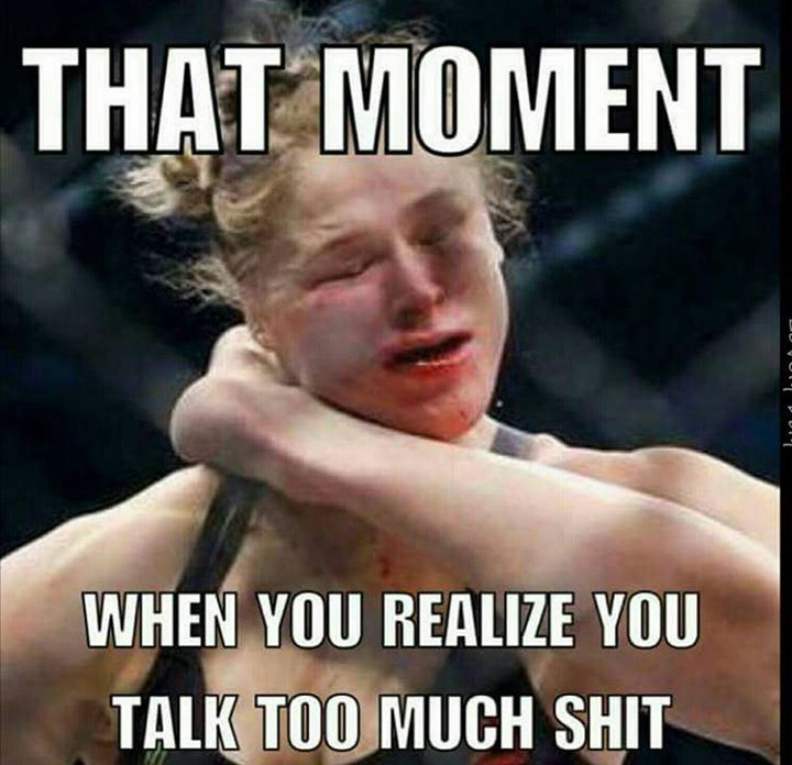 Meme Ronda Rousey vs Holly Holm this why you need to be humble ronda rousley
