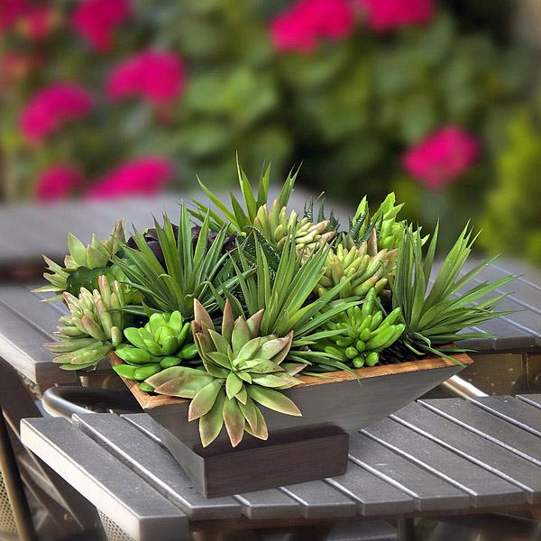 La llimona arreglo floral con plantas artificiales mini for Plantas de interior artificiales