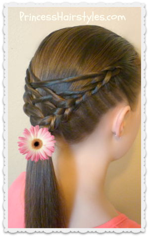 Video instructions, woven twist ponytail hairstyle