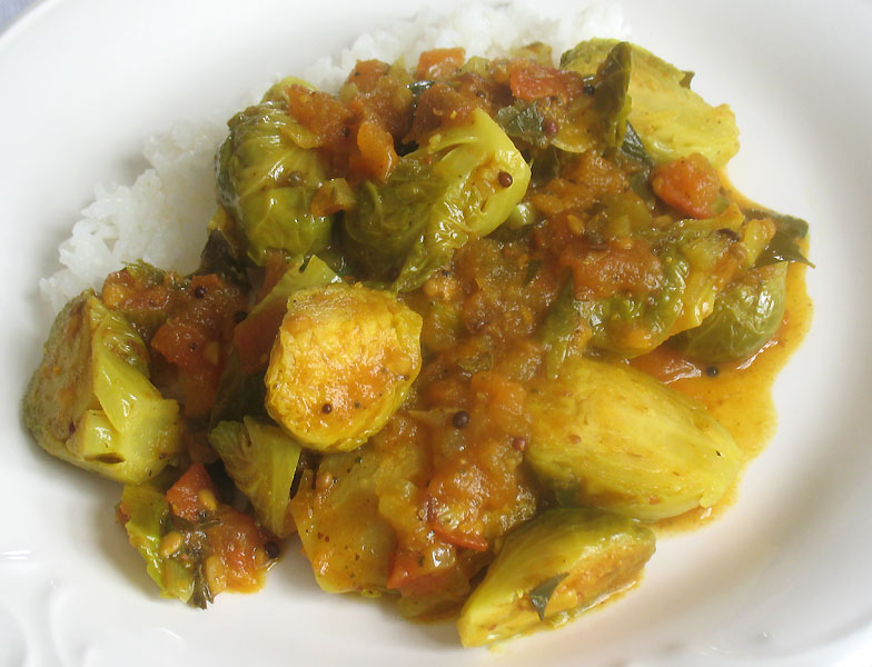 Brussels Sprouts Kulambu (Brussels in a Spicy Tomato Sauce) | Lisa's ...