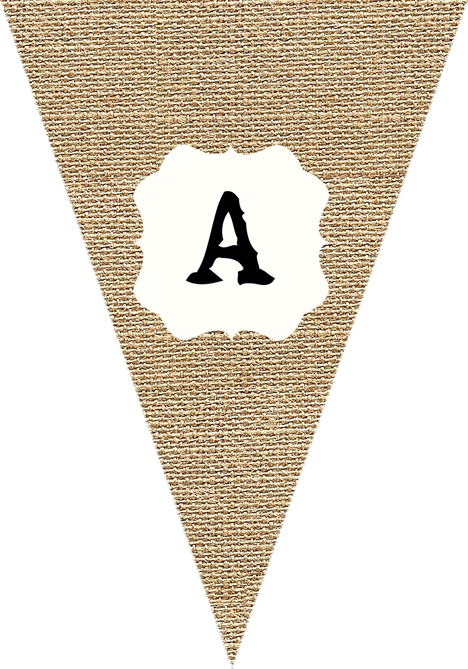 Sweetly Scrapped Free Printable Burlap Bunting Blank And Alphabet