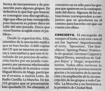 09/08/2007 EL DÍA Ciudad Real