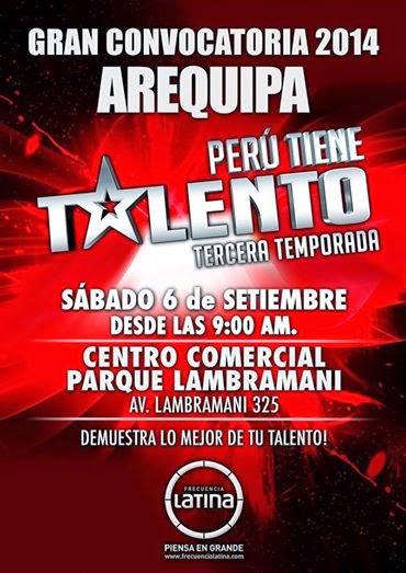 Perú Tiene Talento en Arequipa