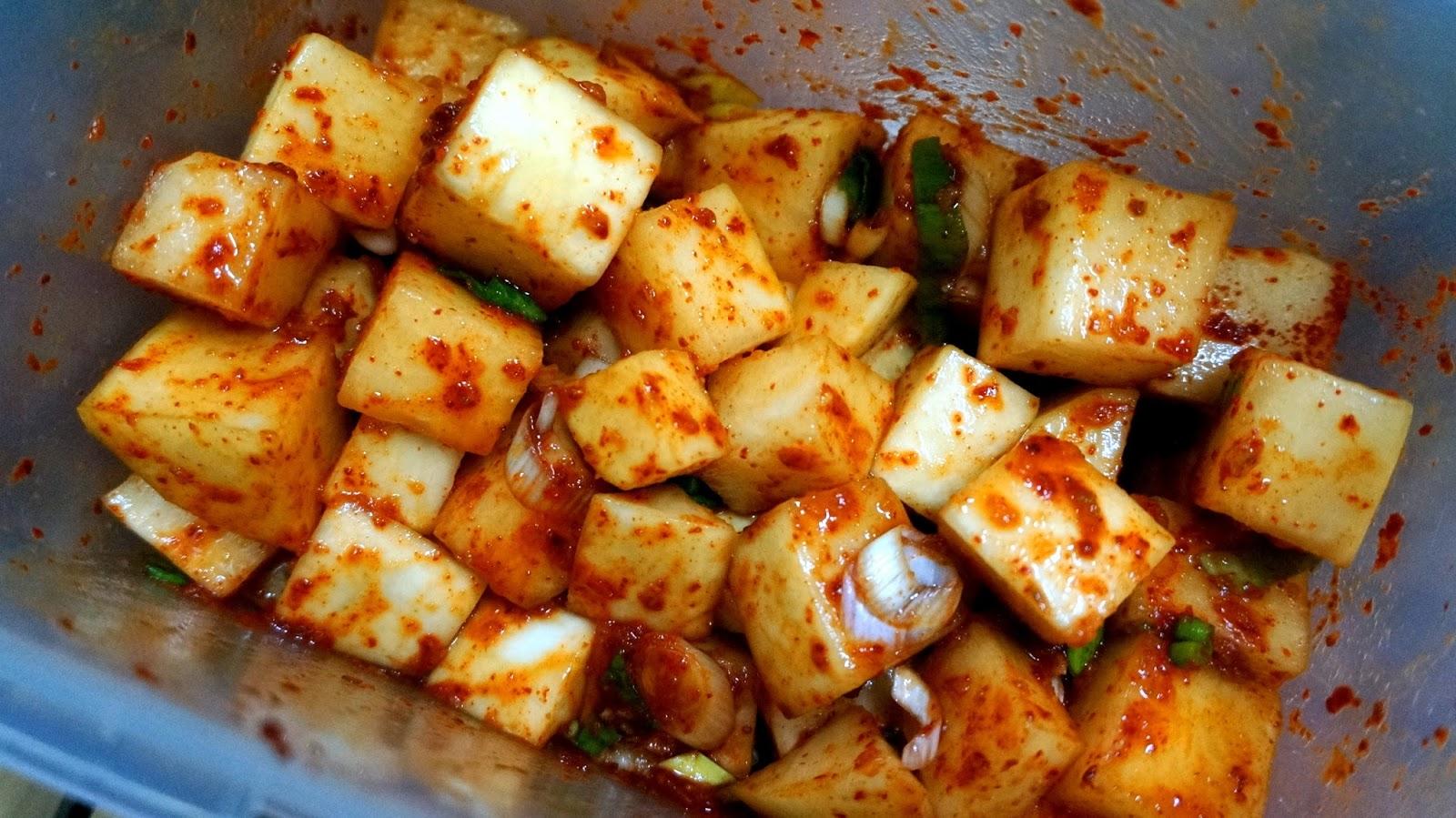 how to prepare radish kimchi
